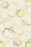 Bolsos del recorrido del modelo Foto de archivo libre de regalías