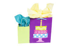 Bolsos del regalo de cumpleaños Imagen de archivo