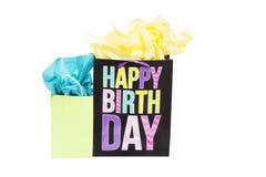 Bolsos del regalo de cumpleaños Imagen de archivo libre de regalías