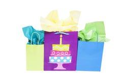 Bolsos del regalo de cumpleaños Foto de archivo libre de regalías