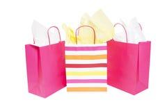Bolsos del regalo de las compras Imagenes de archivo