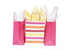 Bolsos del regalo de las compras Fotos de archivo libres de regalías