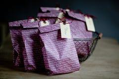 Bolsos del regalo en la fiesta de cumpleaños Foto de archivo libre de regalías