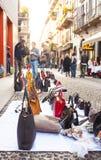 Bolsos italianos falsificados para las ventas Foto de archivo