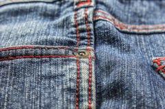 Bolsos laterais das calças de brim Fotos de Stock