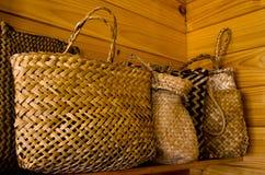 Bolsos maoríes del lino Foto de archivo libre de regalías