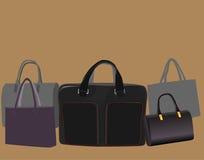 Bolsos para los hombres y las mujeres Imágenes de archivo libres de regalías