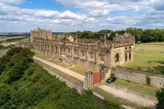 Bolsover城堡在诺丁汉郡,英国 库存图片
