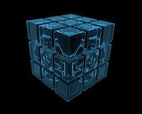 Bolt (3D xray blue transparent) Stock Photos