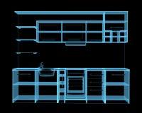 Bolt (3D xray blue transparent) Stock Images