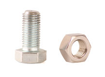 Bolt. It is the stainless steel bolt Royalty Free Stock Photos