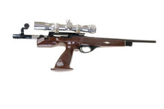 Bolt action pistol. In .223 caliber with a scope on it Royalty Free Stock Photography