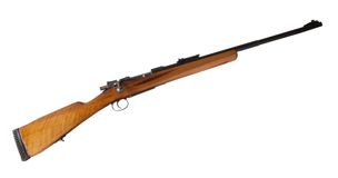 Bolt action rifle. Old bolt action rifle that was used in World War II Royalty Free Stock Images