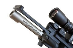 Bolt and charging handle Stock Image