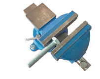 Bolt clamped in a vise Stock Photos