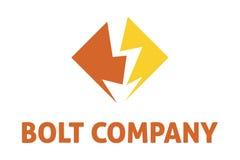 Bolt company logo. Logo design of a bolt inside of the box Stock Image