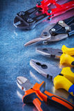 Bolt cutter tin snips gripping tongs nippers on Stock Photos