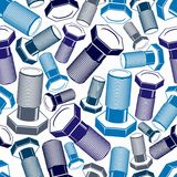 Bolt 3d seamless pattern. Repair theme continuous backdrop. Stock Images