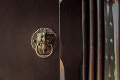 Bolt the door. Golden giant bolt the door Royalty Free Stock Photos