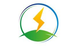 Bolt Electricity Center. Logo Design Template Vector Royalty Free Stock Image