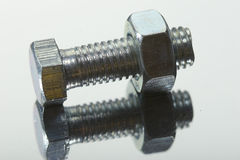Bolt with female screw Stock Photography