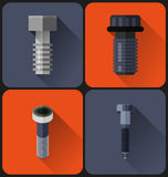 Bolt flat design Royalty Free Stock Image