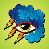 Bolt lightning eye symbol theme Stock Photography