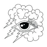 Bolt lightning eye symbol theme Stock Photo