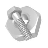 Bolt and nut Stock Images