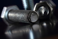Bolt and nut. Royalty Free Stock Photo