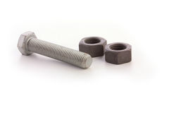 Bolt and nut Stock Photo