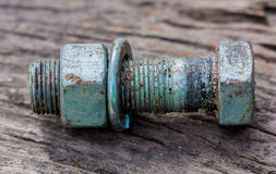 Bolt and nut Stock Image