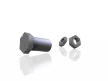 bolt and nut Royalty Free Stock Image