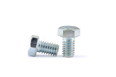 Bolt and nut Royalty Free Stock Photos
