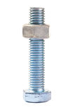 Bolt and nut isolated Royalty Free Stock Photo