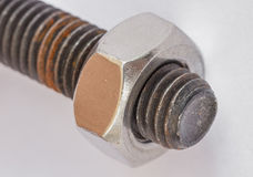 Bolt and nut Royalty Free Stock Images