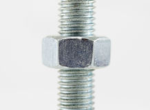 Bolt and nut Royalty Free Stock Photography
