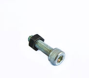 Bolt and nut isolated on white background Royalty Free Stock Photos