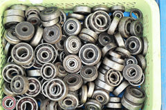 Bolt and nut made of stainless steel Stock Images