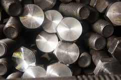Bolt and nut production stock images