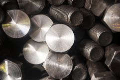 Bolt and nut production stock photography