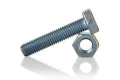 Bolt and nut. Royalty Free Stock Photography