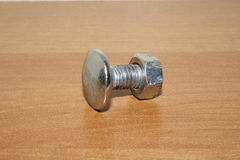 Bolt with nut Royalty Free Stock Photo