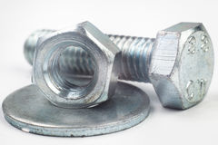Bolt nut washer Stock Photos