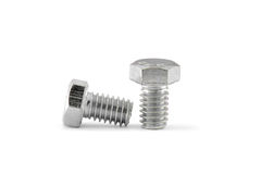 Bolt and nut. On white background Royalty Free Stock Photos