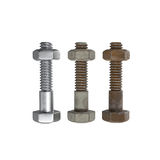 Bolt and nut. Royalty Free Stock Image