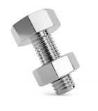 Bolt with nut Stock Image
