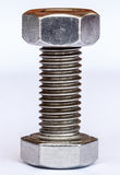 Bolt and nut on white background Stock Images