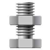 Bolt and Nut. Stock Photo