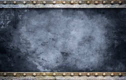 Bolt plate background blue Royalty Free Stock Photography